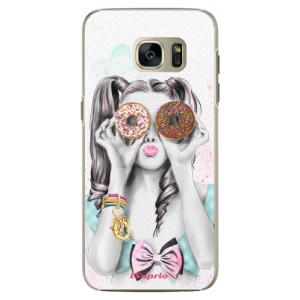 Plastové pouzdro iSaprio Donuts 10 na mobil Samsung Galaxy S7