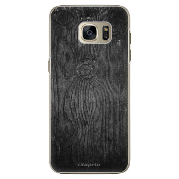 Plastové pouzdro iSaprio Black Wood 13 na mobil Samsung Galaxy S7 (Plastový obal, kryt, pouzdro iSaprio Black Wood 13 na mobilní telefon Samsung Galaxy S7)