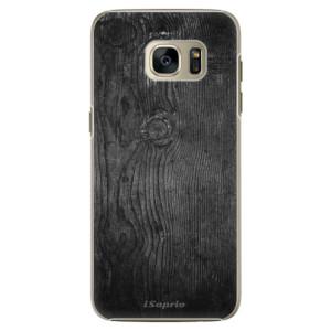 Plastové pouzdro iSaprio Black Wood 13 na mobil Samsung Galaxy S7