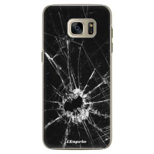 Plastové pouzdro iSaprio Broken Glass 10 na mobil Samsung Galaxy S7