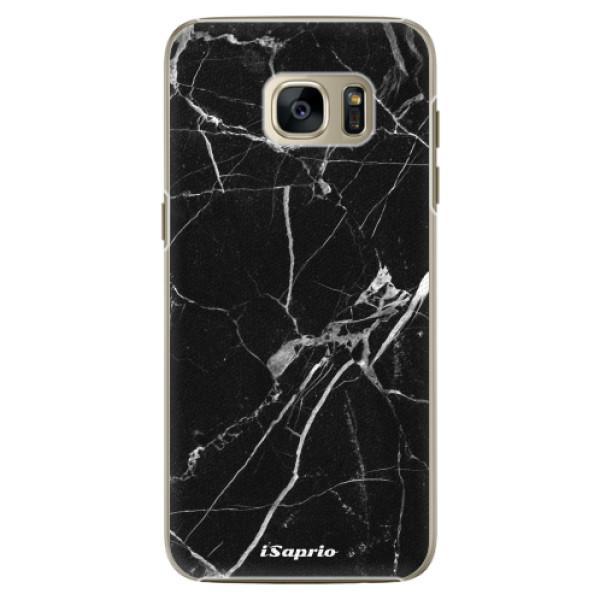 Plastové pouzdro iSaprio Black Marble 18 na mobil Samsung Galaxy S7 (Plastový obal, kryt, pouzdro iSaprio Black Marble 18 na mobilní telefon Samsung Galaxy S7)