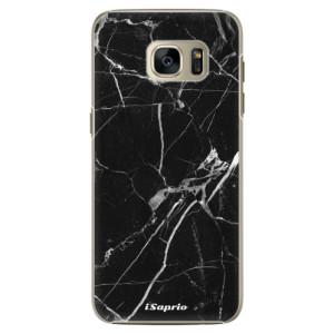 Plastové pouzdro iSaprio Black Marble 18 na mobil Samsung Galaxy S7