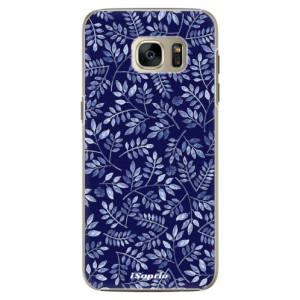 Plastové pouzdro iSaprio Blue Leaves 05 na mobil Samsung Galaxy S7