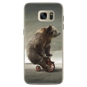 Plastové pouzdro iSaprio Bear 01 na mobil Samsung Galaxy S7
