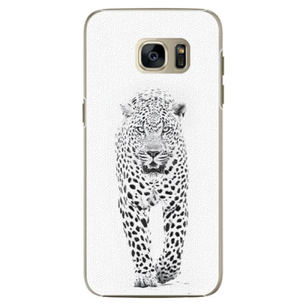 Plastové pouzdro iSaprio white Jaguar na mobil Samsung Galaxy S7 (Plastový obal, kryt, pouzdro iSaprio white Jaguar na mobilní telefon Samsung Galaxy S7)