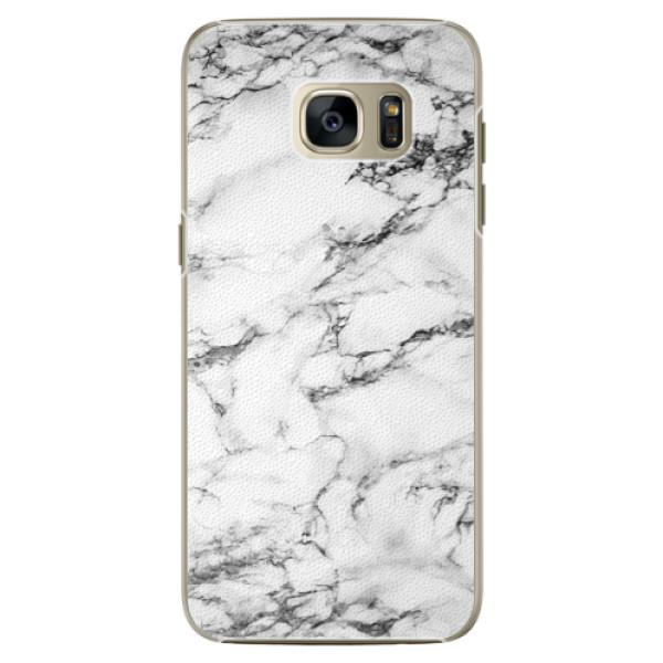 Plastové pouzdro iSaprio white Marble 01 na mobil Samsung Galaxy S7 (Plastový obal, kryt, pouzdro iSaprio white Marble 01 na mobilní telefon Samsung Galaxy S7)