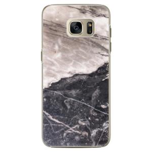 Plastové pouzdro iSaprio BW Marble na mobil Samsung Galaxy S7
