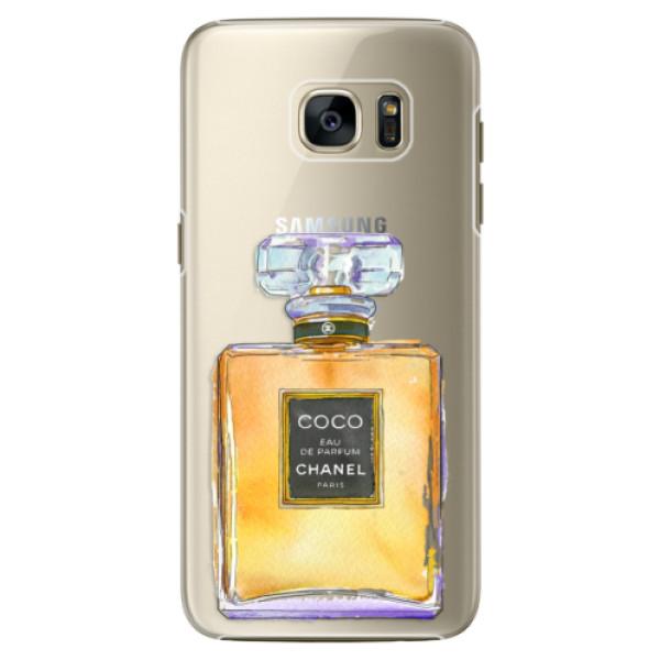 Plastové pouzdro iSaprio Chanel Gold na mobil Samsung Galaxy S7 (Plastový obal, kryt, pouzdro iSaprio Chanel Gold na mobilní telefon Samsung Galaxy S7)