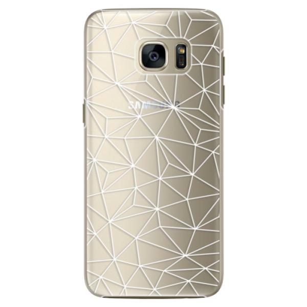 Plastové pouzdro iSaprio Abstract Triangles 03 white na mobil Samsung Galaxy S7 (Plastový obal, kryt, pouzdro iSaprio Abstract Triangles 03 white na mobilní telefon Samsung Galaxy S7)