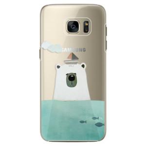 Plastové pouzdro iSaprio Bear With Boat na mobil Samsung Galaxy S7