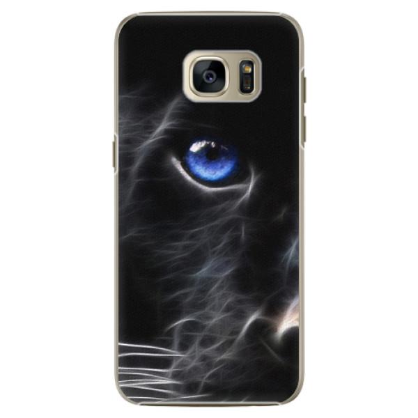 Plastové pouzdro iSaprio Black Puma na mobil Samsung Galaxy S7 (Plastový obal, kryt, pouzdro iSaprio Black Puma na mobilní telefon Samsung Galaxy S7)