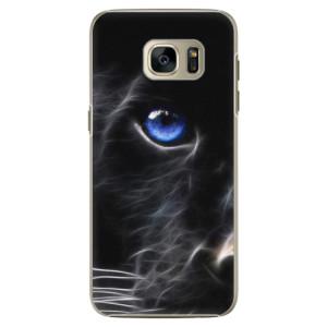 Plastové pouzdro iSaprio Black Puma na mobil Samsung Galaxy S7