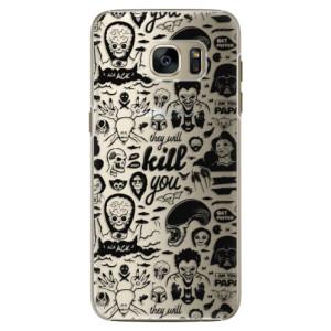 Plastové pouzdro iSaprio Comics 01 black na mobil Samsung Galaxy S7