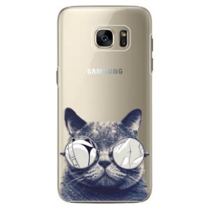 Plastové pouzdro iSaprio Crazy Cat 01 na mobil Samsung Galaxy S7