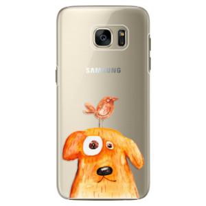 Plastové pouzdro iSaprio Dog And Bird na mobil Samsung Galaxy S7