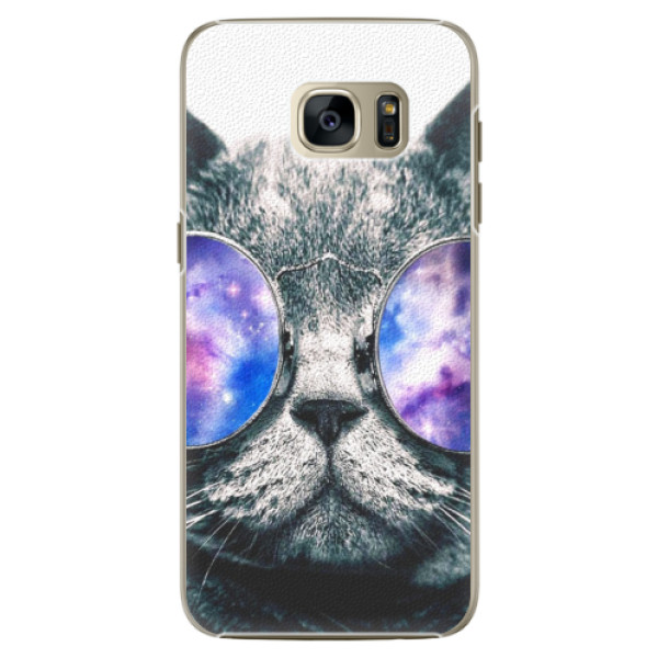 Plastové pouzdro iSaprio Galaxy Cat na mobil Samsung Galaxy S7 (Plastový obal, kryt, pouzdro iSaprio Galaxy Cat na mobilní telefon Samsung Galaxy S7)