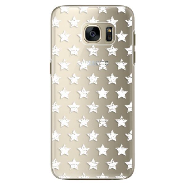 Plastové pouzdro iSaprio Stars Pattern white na mobil Samsung Galaxy S7 (Plastový obal, kryt, pouzdro iSaprio Stars Pattern white na mobilní telefon Samsung Galaxy S7)