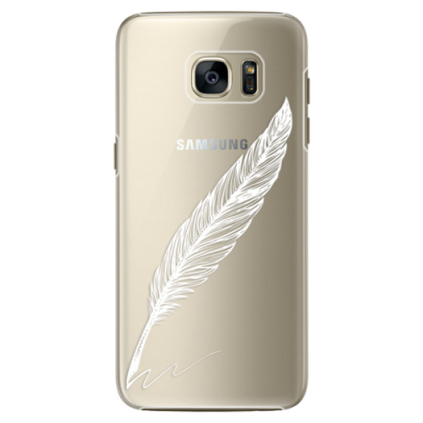Plastové pouzdro iSaprio Writing By Feather white na mobil Samsung Galaxy S7 (Plastový obal, kryt, pouzdro iSaprio Writing By Feather white na mobilní telefon Samsung Galaxy S7)