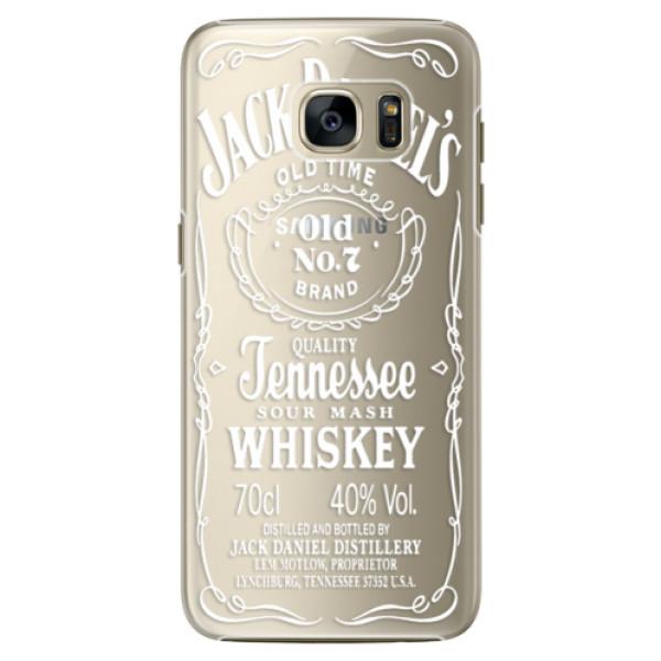 Plastové pouzdro iSaprio Transparent White Jack na mobil Samsung Galaxy S7 (Plastový obal, kryt, pouzdro iSaprio Transparent White Jack na mobilní telefon Samsung Galaxy S7)