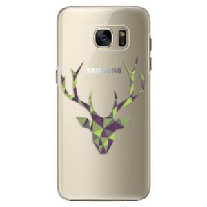 Plastové pouzdro iSaprio Deer Green na mobil Samsung Galaxy S7