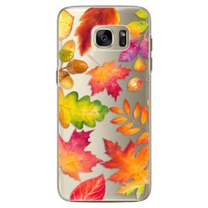 Plastové pouzdro iSaprio Autumn Leaves 01 na mobil Samsung Galaxy S7