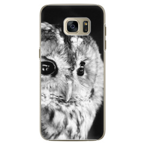 Plastové pouzdro iSaprio BW Owl na mobil Samsung Galaxy S7