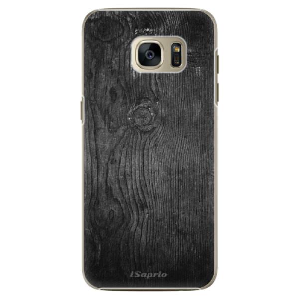 Plastové pouzdro iSaprio Black Wood 13 na mobil Samsung Galaxy S7 Edge (Plastový obal, kryt, pouzdro iSaprio Black Wood 13 na mobilní telefon Samsung Galaxy S7 Edge)