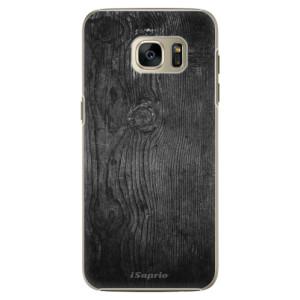 Plastové pouzdro iSaprio Black Wood 13 na mobil Samsung Galaxy S7 Edge