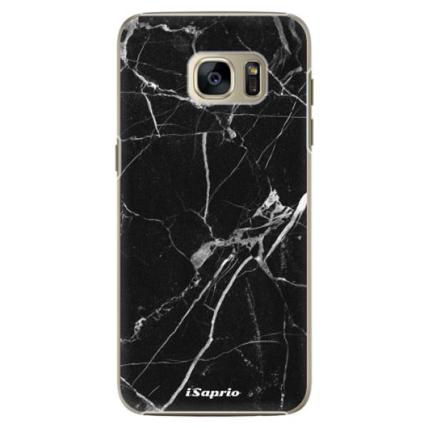 Plastové pouzdro iSaprio Black Marble 18 na mobil Samsung Galaxy S7 Edge (Plastový obal, kryt, pouzdro iSaprio Black Marble 18 na mobilní telefon Samsung Galaxy S7 Edge)