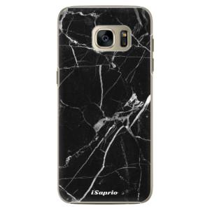 Plastové pouzdro iSaprio Black Marble 18 na mobil Samsung Galaxy S7 Edge