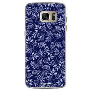 Plastové pouzdro iSaprio Blue Leaves 05 na mobil Samsung Galaxy S7 Edge