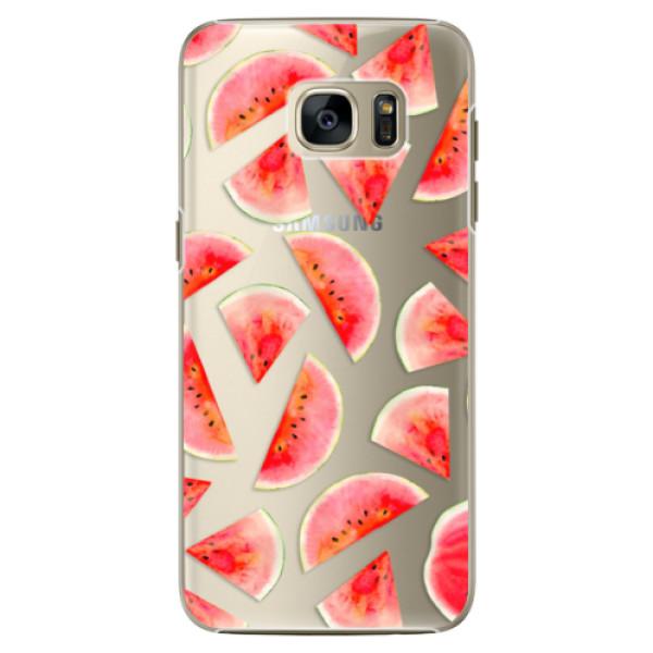 Plastové pouzdro iSaprio Melon Pattern 02 na mobil Samsung Galaxy S7 Edge (Plastový obal, kryt, pouzdro iSaprio Melon Pattern 02 na mobilní telefon Samsung Galaxy S7 Edge)