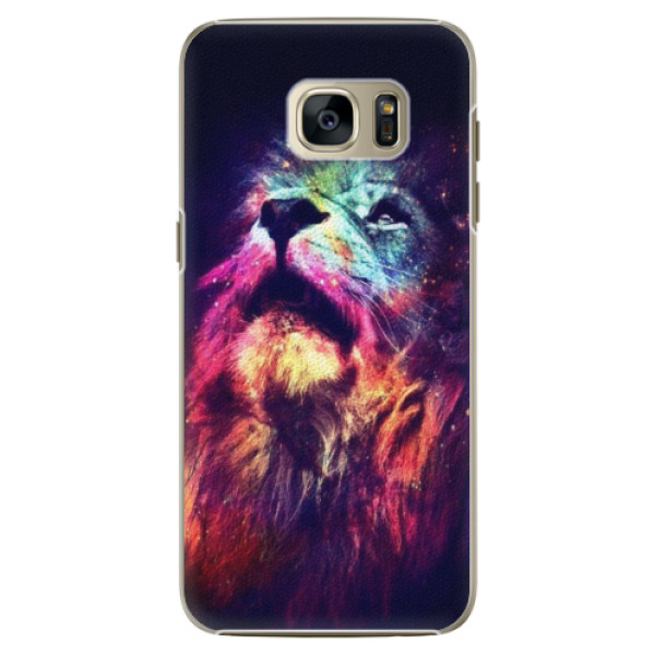 Plastové pouzdro iSaprio Lion in Colors na mobil Samsung Galaxy S7 Edge (Plastový obal, kryt, pouzdro iSaprio Lion in Colors na mobilní telefon Samsung Galaxy S7 Edge)