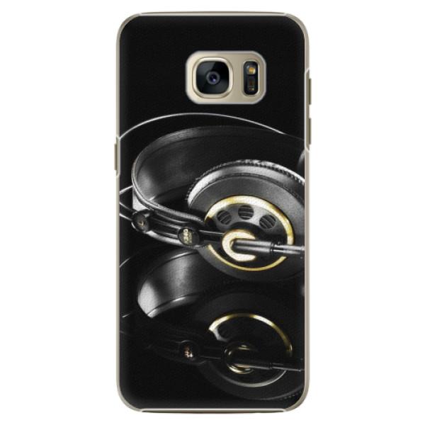 Plastové pouzdro iSaprio Headphones 02 na mobil Samsung Galaxy S7 Edge (Plastový obal, kryt, pouzdro iSaprio Headphones 02 na mobilní telefon Samsung Galaxy S7 Edge)