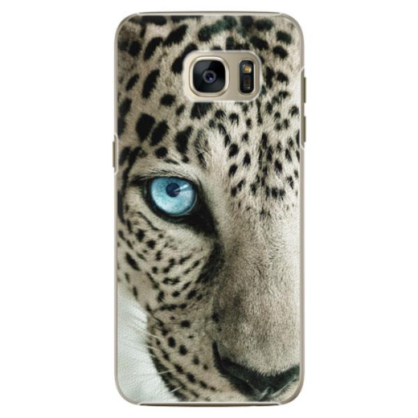 Plastové pouzdro iSaprio white Panther na mobil Samsung Galaxy S7 Edge (Plastový obal, kryt, pouzdro iSaprio white Panther na mobilní telefon Samsung Galaxy S7 Edge)