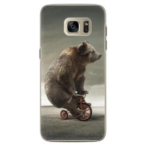 Plastové pouzdro iSaprio Bear 01 na mobil Samsung Galaxy S7 Edge