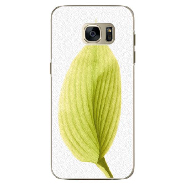 Plastové pouzdro iSaprio Green Leaf na mobil Samsung Galaxy S7 Edge (Plastový obal, kryt, pouzdro iSaprio Green Leaf na mobilní telefon Samsung Galaxy S7 Edge)
