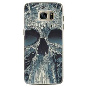 Plastové pouzdro iSaprio Abstract Skull na mobil Samsung Galaxy S7 Edge