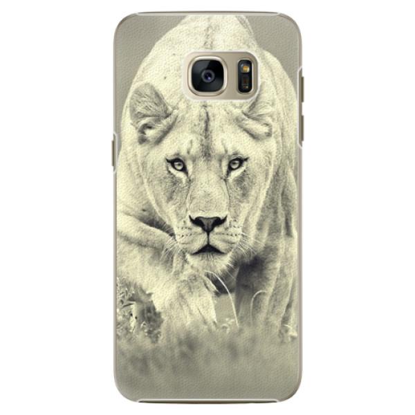 Plastové pouzdro iSaprio Lioness 01 na mobil Samsung Galaxy S7 Edge (Plastový obal, kryt, pouzdro iSaprio Lioness 01 na mobilní telefon Samsung Galaxy S7 Edge)