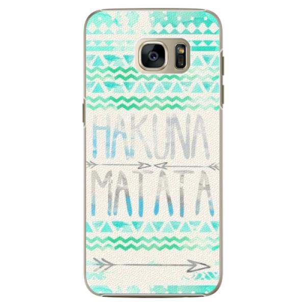Plastové pouzdro iSaprio Hakuna Matata Green na mobil Samsung Galaxy S7 Edge (Plastový obal, kryt, pouzdro iSaprio Hakuna Matata Green na mobilní telefon Samsung Galaxy S7 Edge)