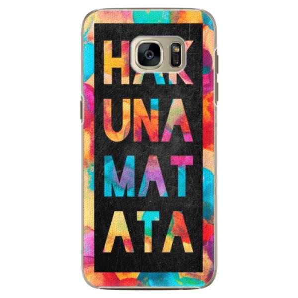 Plastové pouzdro iSaprio Hakuna Matata 01 na mobil Samsung Galaxy S7 Edge (Plastový obal, kryt, pouzdro iSaprio Hakuna Matata 01 na mobilní telefon Samsung Galaxy S7 Edge)