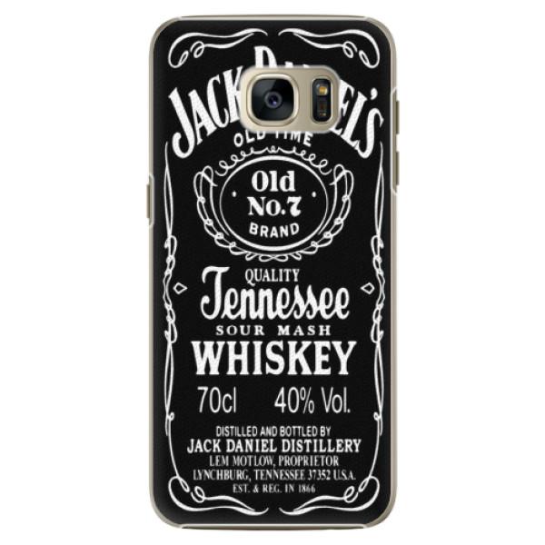 Plastové pouzdro iSaprio Jack Daniels na mobil Samsung Galaxy S7 Edge (Plastový obal, kryt, pouzdro iSaprio Jack Daniels na mobilní telefon Samsung Galaxy S7 Edge)