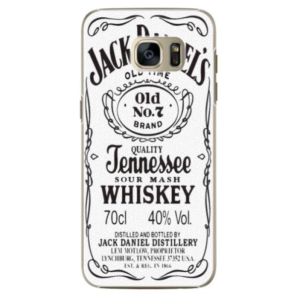 Plastové pouzdro iSaprio Jack White na mobil Samsung Galaxy S7 Edge (Plastový obal, kryt, pouzdro iSaprio Jack White na mobilní telefon Samsung Galaxy S7 Edge)