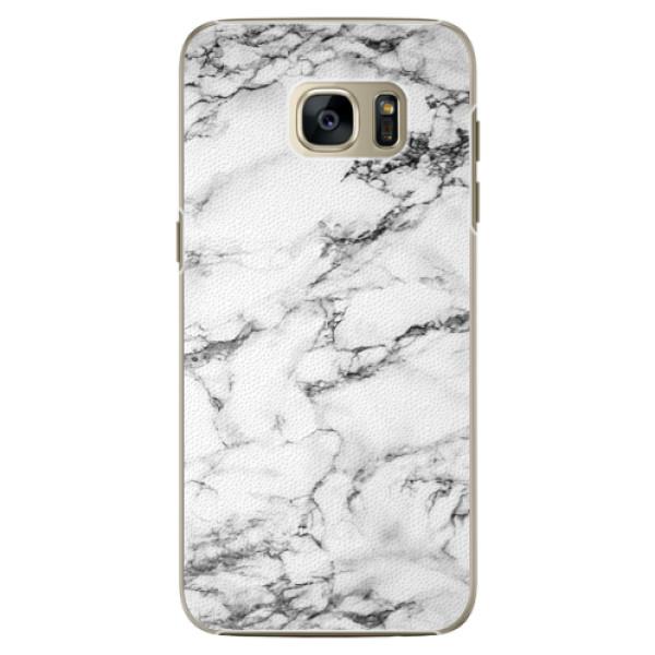 Plastové pouzdro iSaprio white Marble 01 na mobil Samsung Galaxy S7 Edge (Plastový obal, kryt, pouzdro iSaprio white Marble 01 na mobilní telefon Samsung Galaxy S7 Edge)