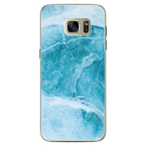 Plastové pouzdro iSaprio Blue Marble na mobil Samsung Galaxy S7 Edge