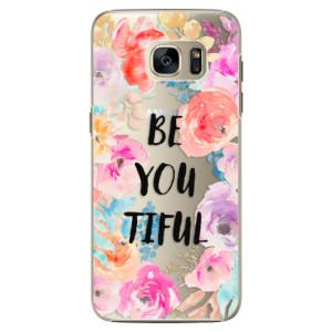 Plastové pouzdro iSaprio BeYouTiful na mobil Samsung Galaxy S7 Edge