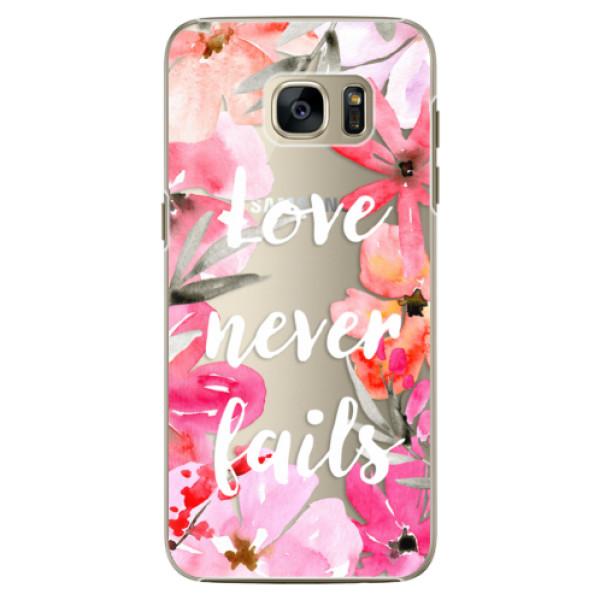 Plastové pouzdro iSaprio Love Never Fails na mobil Samsung Galaxy S7 Edge (Plastový obal, kryt, pouzdro iSaprio Love Never Fails na mobilní telefon Samsung Galaxy S7 Edge)