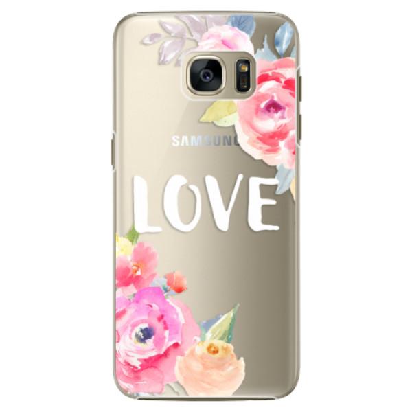 Plastové pouzdro iSaprio Love na mobil Samsung Galaxy S7 Edge (Plastový obal, kryt, pouzdro iSaprio Love na mobilní telefon Samsung Galaxy S7 Edge)