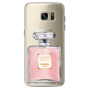 Plastové pouzdro iSaprio Chanel Rose na mobil Samsung Galaxy S7 Edge