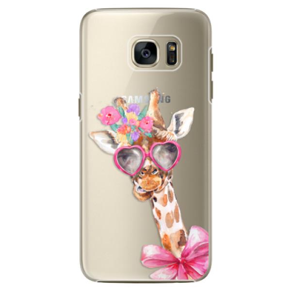 Plastové pouzdro iSaprio Lady Giraffe na mobil Samsung Galaxy S7 Edge (Plastový obal, kryt, pouzdro iSaprio Lady Giraffe na mobilní telefon Samsung Galaxy S7 Edge)
